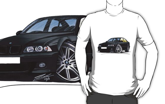 Bmw M5 Black On Black. Tshirt: BMW M5 (E39) Black