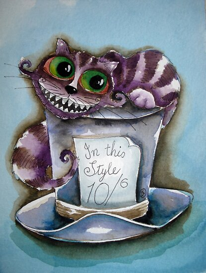 top hat cat. Cheshire Cat on a top hat by