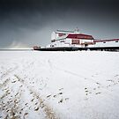 Snow Photography: Britannia Pier - Winter by Simon Wrigglesworth