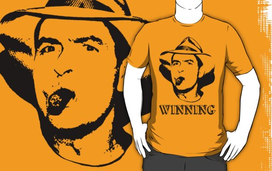 charlie sheen winning picture. Charlie Sheen Winning Shirt by