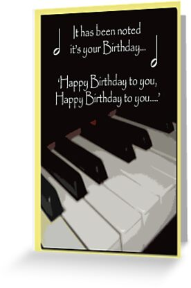 how to play happy birthday on the piona