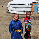 Mongolian children by Valérie Curty