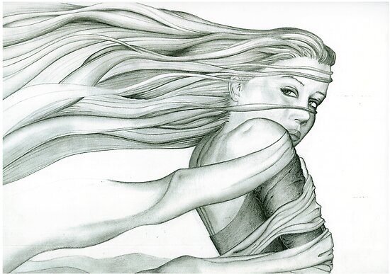 A testament to my obsession with drawing long flowing hair. Passage by AWarr