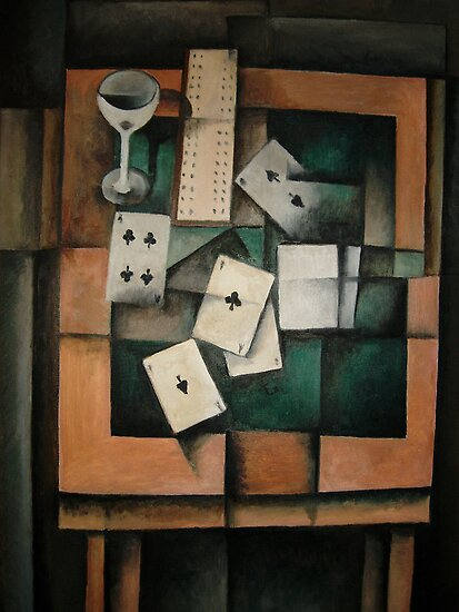 The Card Game belongs to the following groups: Cubism Available for sale as