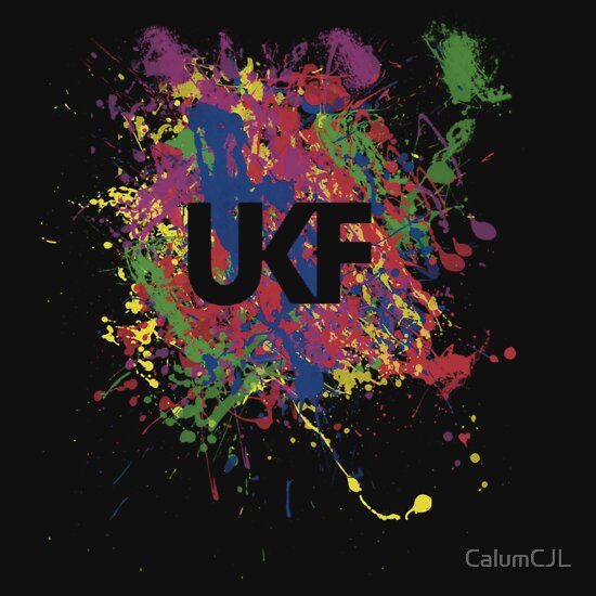 TShirtGifter presents: UKF Colour Splash Logo T-Shirt