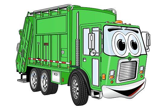 garbage truck cartoon - photo #1