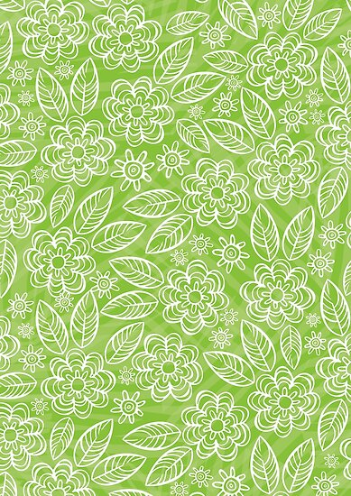 Light Green And White Pattern