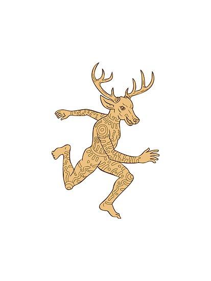 Half Deer Half Man Drawing