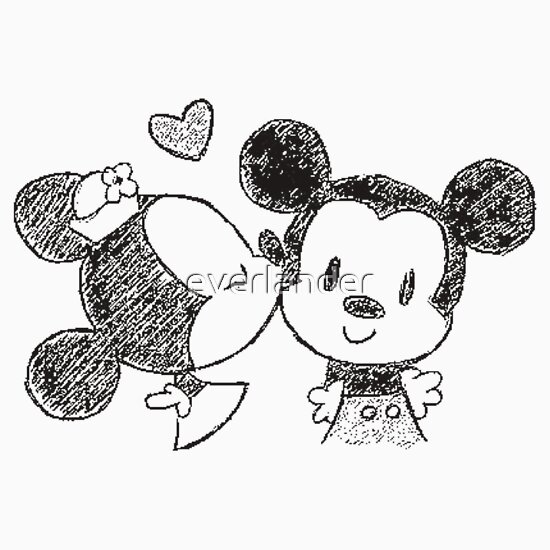 Drawings Of Mickey Mouse And Minnie Mouse Kissing | www ...