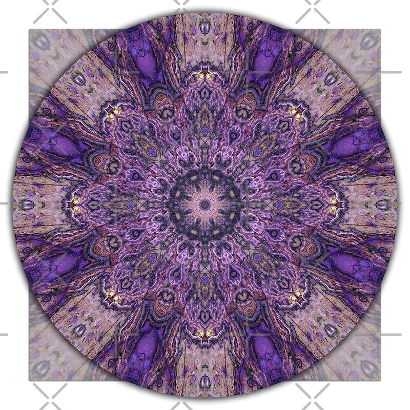 """Crown Chakra Mandala 1a"" by haymelter | Redbubble"