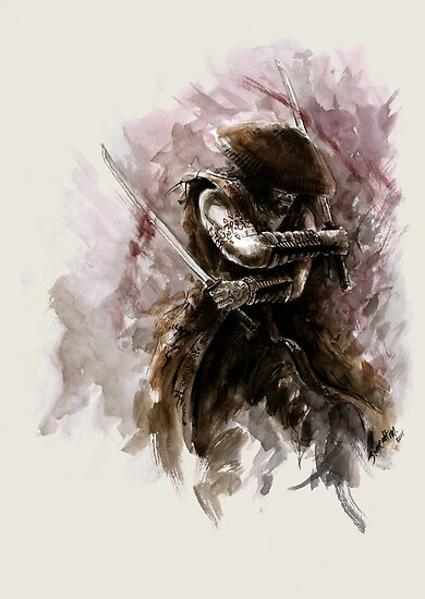 """Samurai art Ronin Avatar sword samurai art print samurai ..."