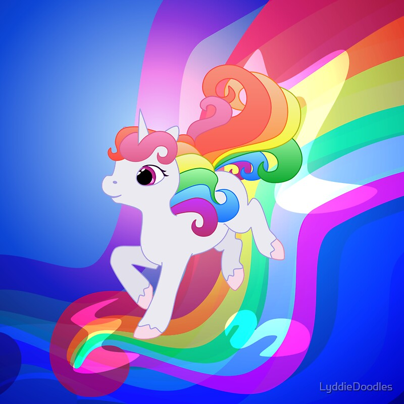 """""""Cute Baby Rainbow Unicorn"""" Tote Bags by LyddieDoodles ..."""