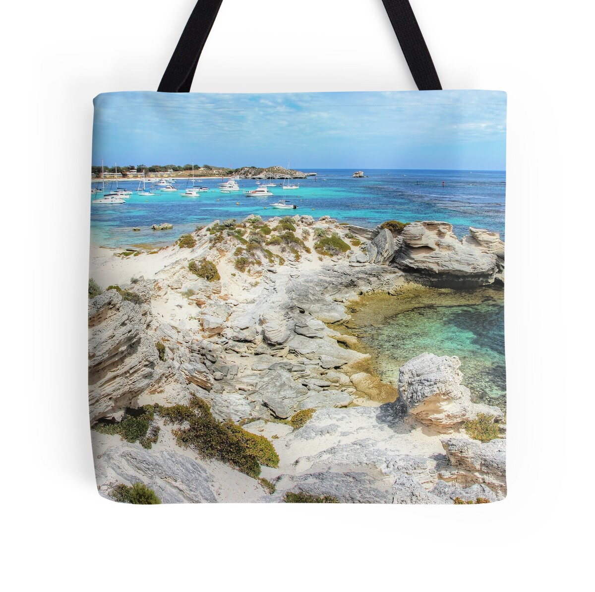 Wall Stickers Perth Quot Longreach Bay Rottnest Island Perth Wa Quot Tote Bags By