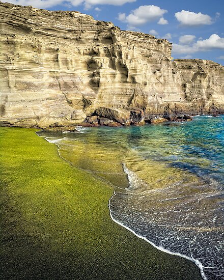 "Big Island Beaches: ""Green Sand Beach"" By Yves Rubin"