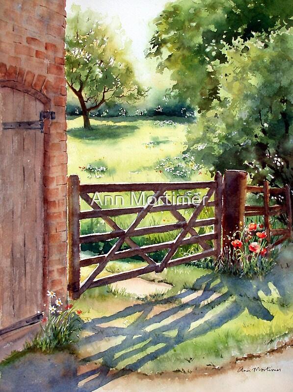 Quot Farm Gate Quot By Ann Mortimer Redbubble