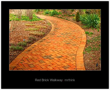 Quot Red Brick Walkway Quot By Mrthink Redbubble