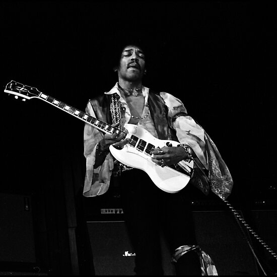 Jimi With His SG IMG