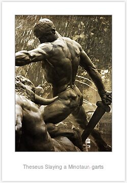 Quot Theseus Slaying A Minotaur Quot By Garts Redbubble
